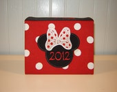 Minnie Mouse Appliqued Album 100 Photo size in Red or Hot Pink
