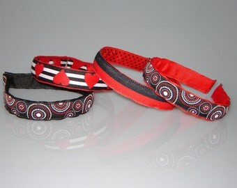 Red and Back Headband Collection