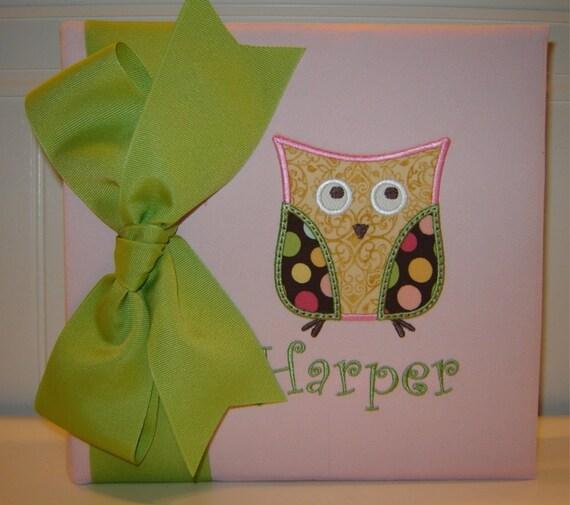 Cute Owl Appliqued Photo Album