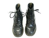 size 8.5 black leather vintage DR MARTENS boots