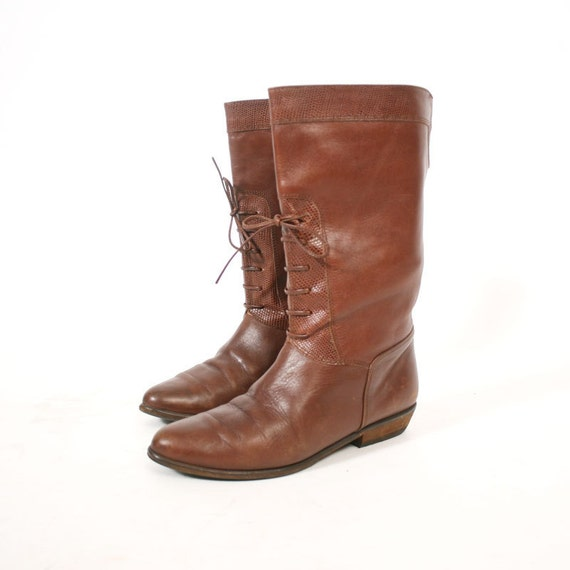 size 6 vintage lace up ankle boots by santokivintage on etsy
