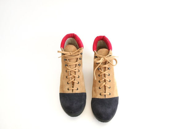 size 9.5 10 COLOR BLOCK ankle boots