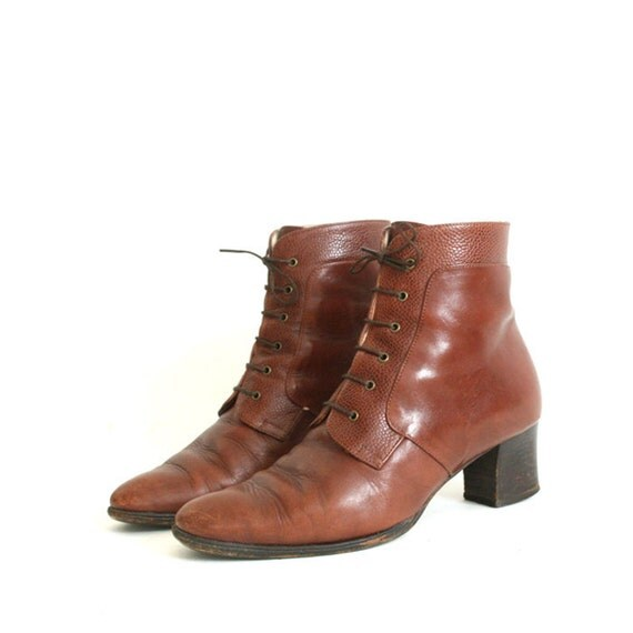 RESERVED for nicolavicius vintage brown leather BALLY ankle boots