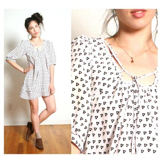 vintage TRIANGLE pattern dress