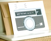 Scratch off Save the Date - Camera -