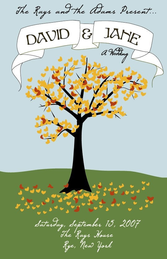 Fall Wedding Poster Sample