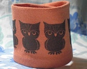 Kid Size Wrist Cuff Wallet for lunch money - Baby Owls  (Eco-friendly)