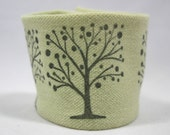 Wrist Cuff Wallet  for Running  Eco Friendly Chartreuse Trees