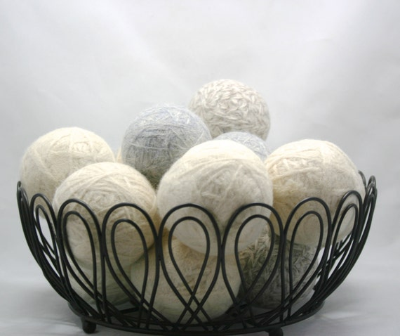 Wool felt dryer balls Set of 3 made from 100% recycled wool for natural laundry care