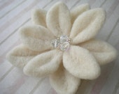 Winter White Felted Brooch