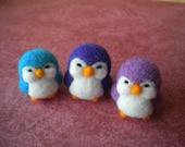 Needle Felted Mini Penguins - Set of Three