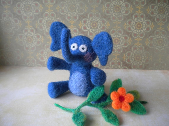 Maggie - Felted Elephant
