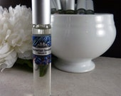 Tasmanian Lavender perfume oil - 15ml roll-on with brushed silver cap
