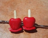 CARNIVAL CANDY APPLES Hair Bobby Pins - - Gift Packaging