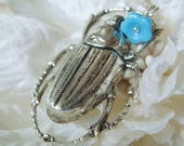 Scarab Blue necklace ON HOLD FOR STEPH
