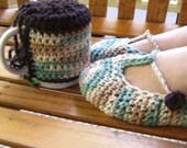 Cotton Slipper/Coffee Mug Sweater Combo - Irish Cream