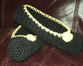 PITTSBURGH Black And Gold Custom Slippers