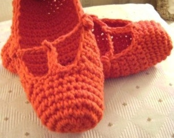 Red T-Strap Cotton Slippers