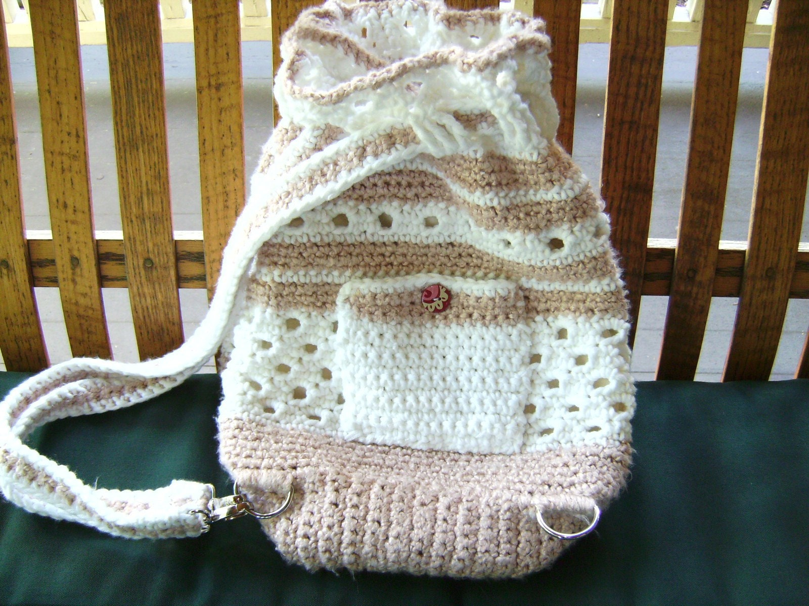 Crochet Backpack : Crochet Hobo Backpack With Convertible by InterferenceChannel
