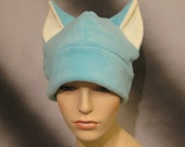 Fuzzy Aqua Green/Blue Cat Ear Hat