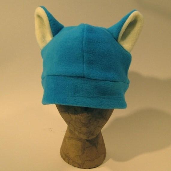 SALE Blue Fuzzy Cat Ear Hat