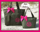 Gift Set - 1 Monogrammed Large Tote and 1 Lunchbox, Personalized Organizer Tote and Lunch Bag, Personalized Teachers Briefcase, Embroidery