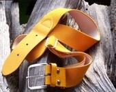 SALE Vintage 70s Mustard Yellow Stretch Belt  SALE