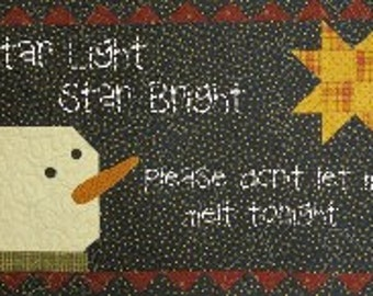 Star Light Star Bright Quilt Pattern 29x14