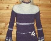 Icelandic wool purple sweater