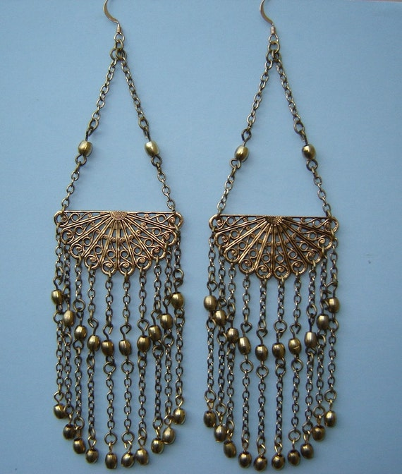 edie sedgwick earrings edie sedgwick filigree earrings antique gold and brass 653