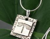 Dragonfly Delight  - Fine Silver Pendant Necklace - SALE