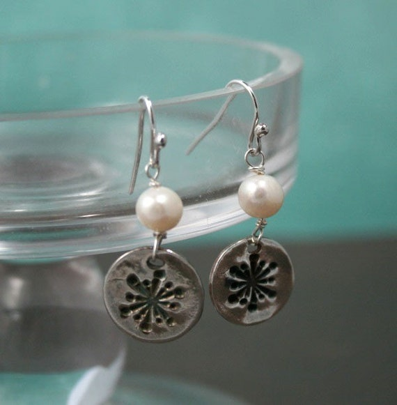 Fun and Funky Snowflakes - Fine Silver Dangle Earrings