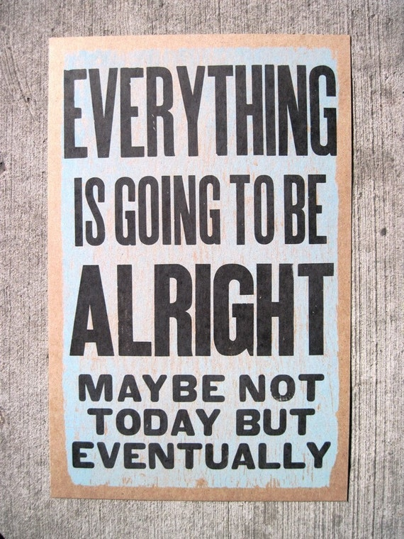 everything is alright poster