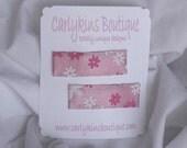 Carlykins Boutique Baby Girl Pink Shimmer Snap Clips Infant, Toddler, Children