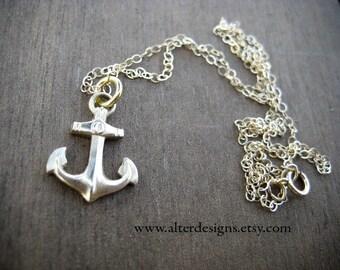 Delta Gamma Anchor Charm Necklace DG Sorority Charm Nautical Sailing Necklace  College Sorority Little Sister Gift