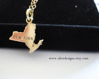 New York Necklace NY Necklace Syracuse Necklace Cornell Necklace Ithaca Necklace NYU Necklace SUNY Necklace Columbia NecklaceBridesmaid Gift