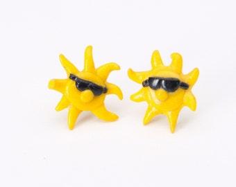 Sunshine Post Earrings