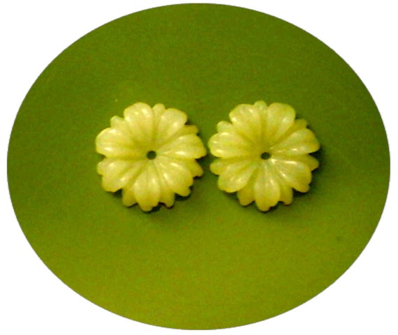 Yellow Jade Flower Earring Jackets With Your Choice of Gemstone Stud Earrings