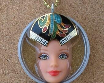Upcycled Barbie Doll Pendant - Venus