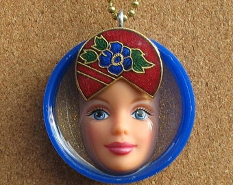 Upcycled Barbie Doll Pendant - Aphrodite