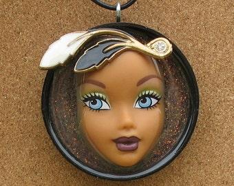 SALE ITEM - My Scene Barbie - Doll Face Pendant - Serenity