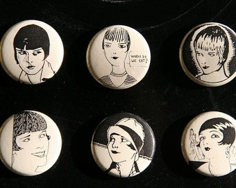 Pinback Buttons of Louise Brooks
