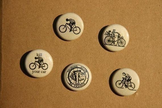 tour de france pin back button set