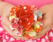 CORA PAIGE - Red II Fabric Flower Barrette