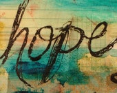 HOPE - Original Mixed Media affirmation painting by Artist Carmen Torbus