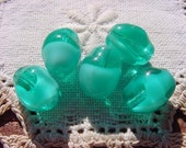 Creamy Teal Givre Vintage Glass Beads