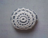Crocheted Lace Stone, Beige, Irish Lace Inspired