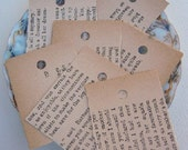 Recycled Vintage-Paper Tags 12 in a handmade envelope
