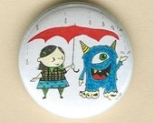 Artwork Button, Monster and Friend