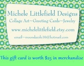 Gift Certificates To My Etsy Shop You Choose The Amount And Delivery
